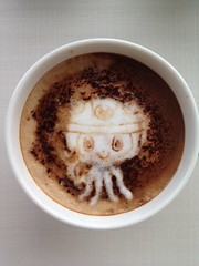 Today's latte, constructocat.