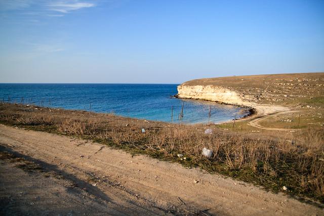 Road along the shore