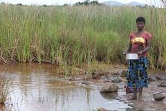 Malawi's Lake Chilwa could dry up completely by next year if the low rainfall in the area continued. Credit: Claire Ngozo/IPS