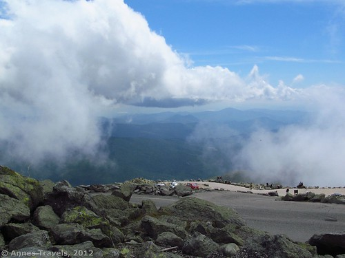 A break in the clouds on the summit of Mount Washington, White Mountain National Forest, New Hampshire