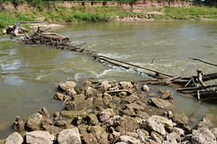 Remnants of Railroad Truss Bridge, Brazos River, Below Hwy 290 1208161609