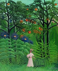 Henri Rousseau, French, 1844–1910. Woman Walking in an Exotic Forest.  1905. Oil on canvas. Photo: © 2012 The Barnes Foundation