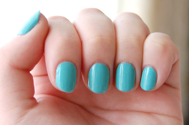b3aca5e3007 There s not much to say about this polish except that it is a true Tiffany  blue. My parents bought me a Tiffany   Co necklace for my 21st birthday and  I ...