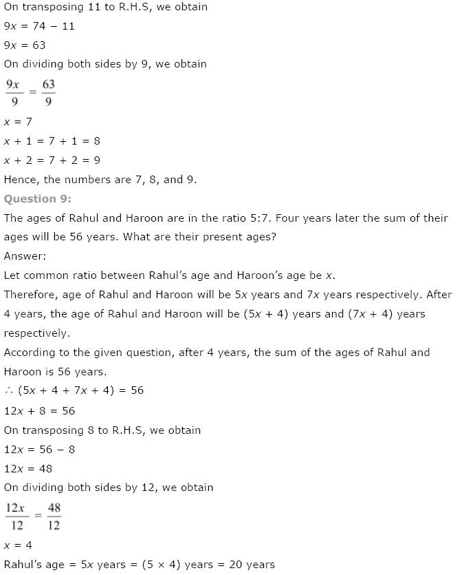 NCERT Class 8 Maths Solutions
