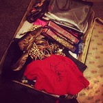 Last of the packing for Dubai  my suitcase has a random red wheel! Even my suitcase has red bottoms!!