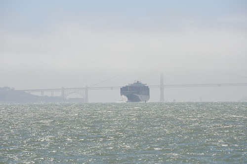 Ferry and Golden Gate bridge