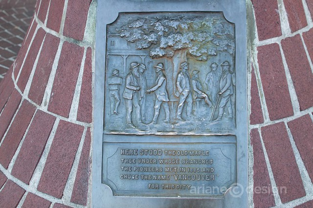 Pioneering Vancouver plaque, Gastown
