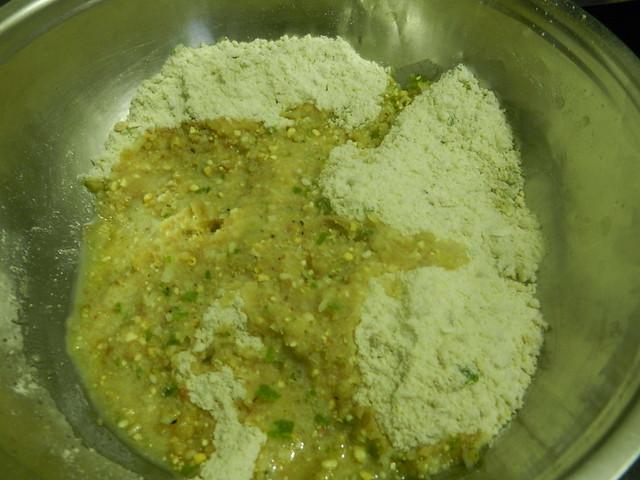 Yoghurt based deep fried snack
