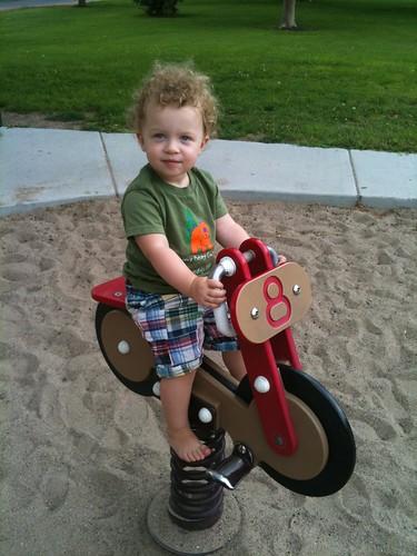 Rosie on the bike -2Y