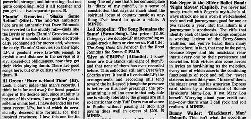 11-22-76 Village Voice (Live at CBGB Vol. 1 LP Review)