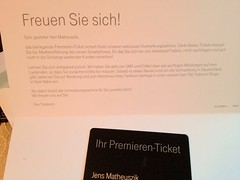 Premieren-Ticket Deutsche Telekom (für das Apple iPhone 5?)