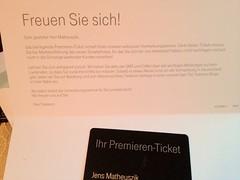 Premieren-Ticket Deutsche Telekom (für das Apple iPhone 5?)