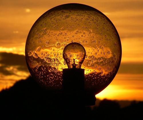 light sunset sky lamp lampe licht sonnenuntergang himmel 2006 rafz