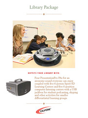 Library Listening and Learning Package for the Califone Classroom AV Wishlist