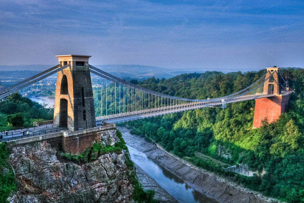 > Clifton bridge, le pont suspendu de Bristol. Photo de PRODerek Σωκράτης Finch