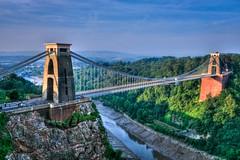 Clifton suspension bridge at dawn