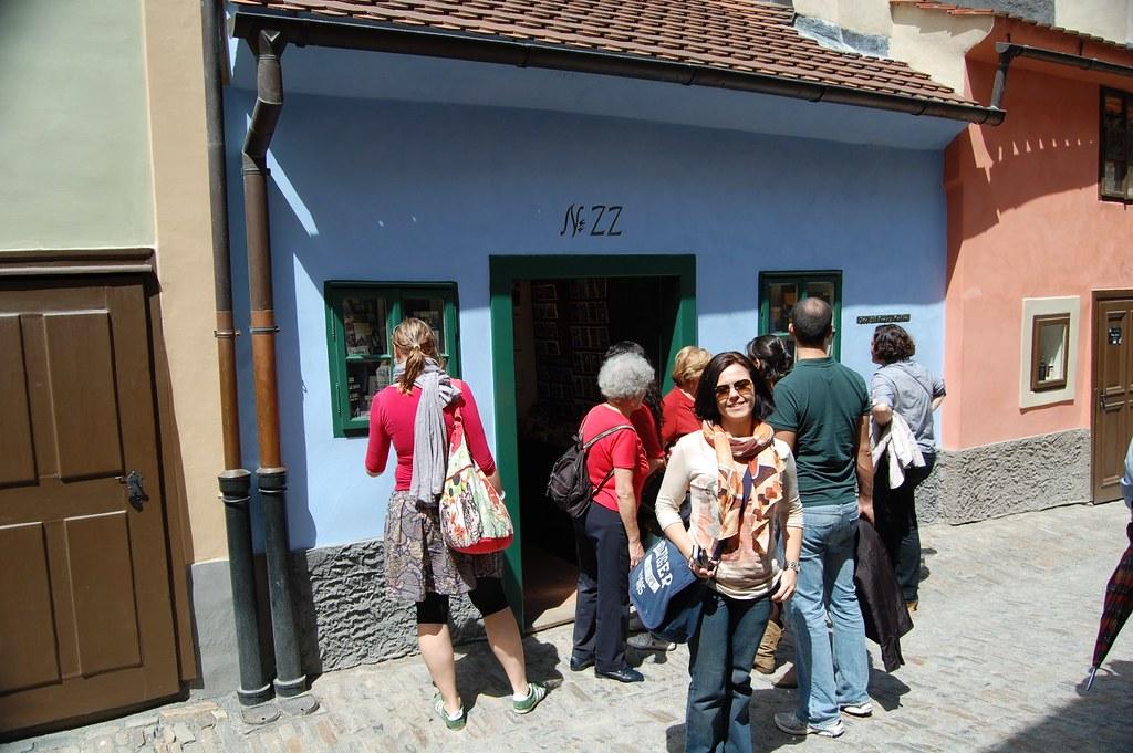 Casa de Frank Kafka en Praga en el callejón dorado