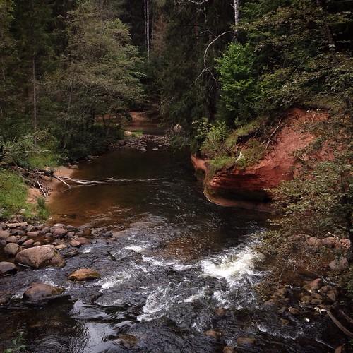 river rocks cliffs latvia rapids amata