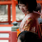 Doting Friend at Japanese Wedding - Miyajima, Japan