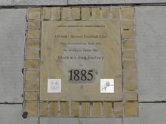 Photo of Millwall Football Club stone plaque