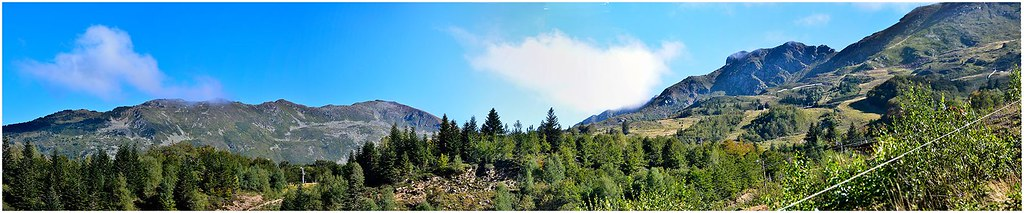 Panorama Monts d'Olmes.Cadene.r