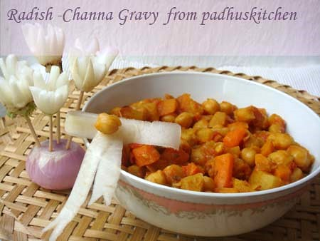 radish channa gravy