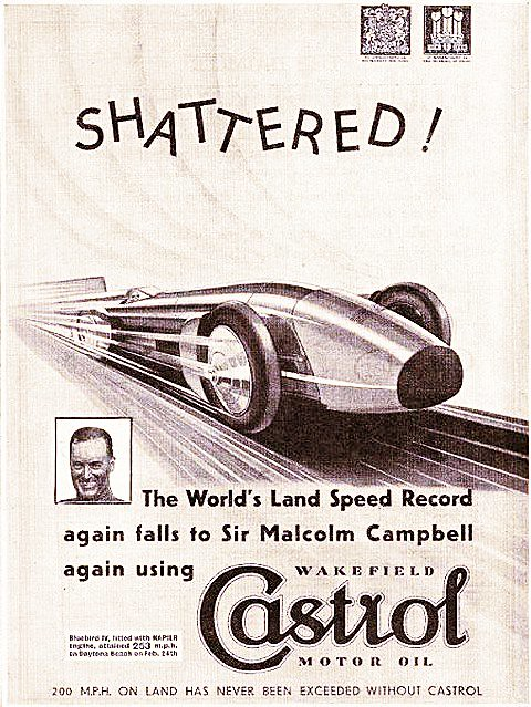 1932 Castrol ad ft. Blue Bird