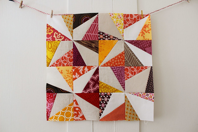 Wonky Pinwheel Block for September