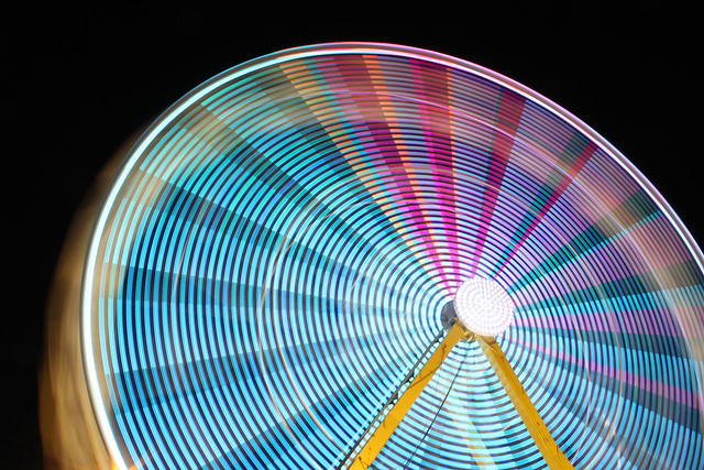ferris wheel - long exposure