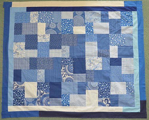 Blue YBR top by Nancy Y 44 x 52