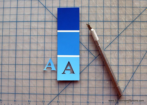 Bookmark - Cut Out Letter