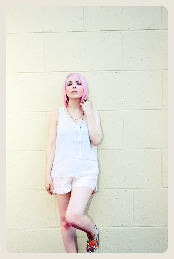pastel hair pink hair haircut summer h&m