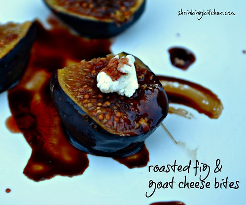 roasted fig & goat cheese bites
