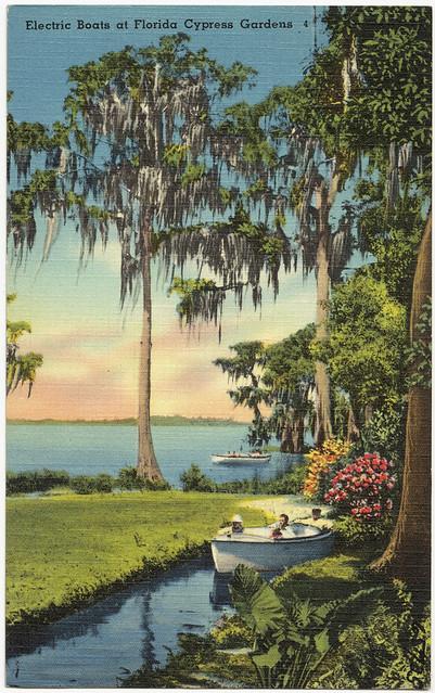 Electric Boats At Florida Cypress Gardens Flickr Photo
