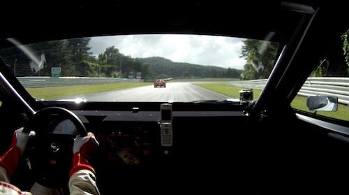 「日産リーフ ニスモ RC」EVレース車載映像 ストレートエンド