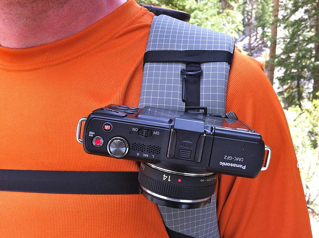 Capture Camera Clip on a backpack