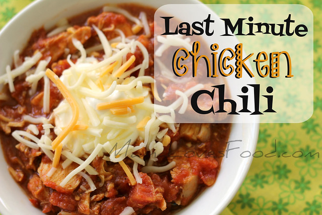 last minute chicken chili cover