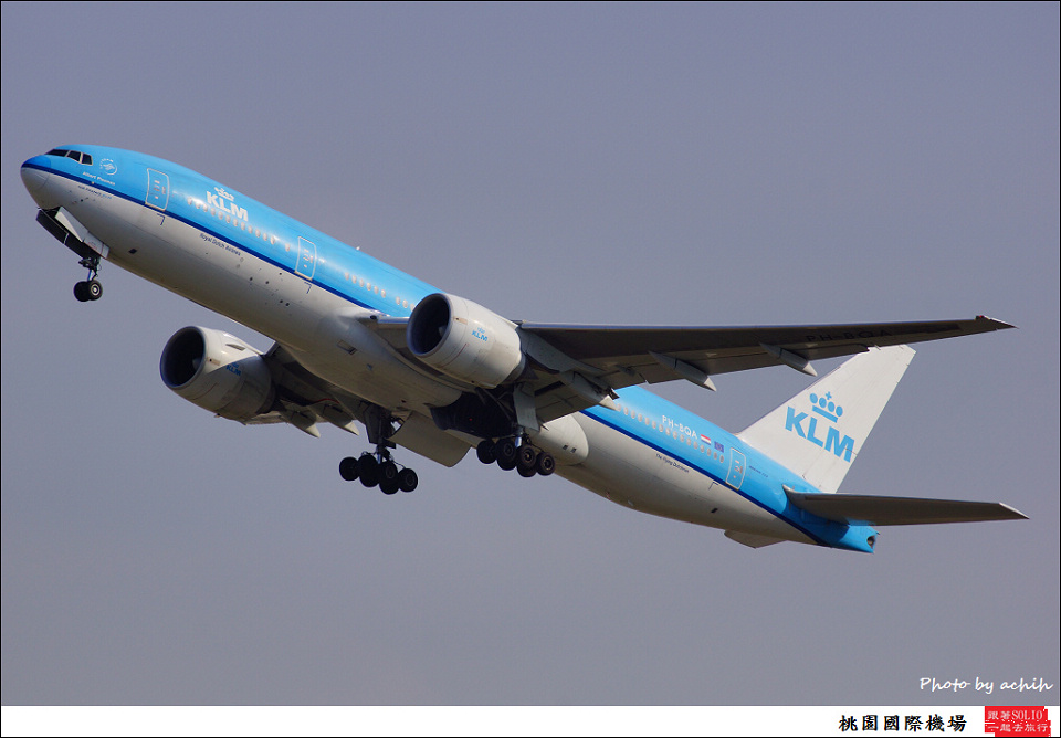KLM - Royal Dutch Airlines / PH-BQA / Taiwan Taoyuan International Airport