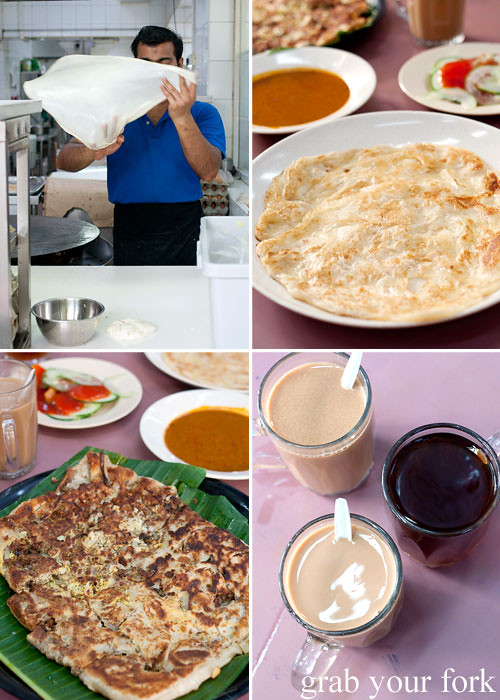 roti canai and murtabak at singapore zam zam