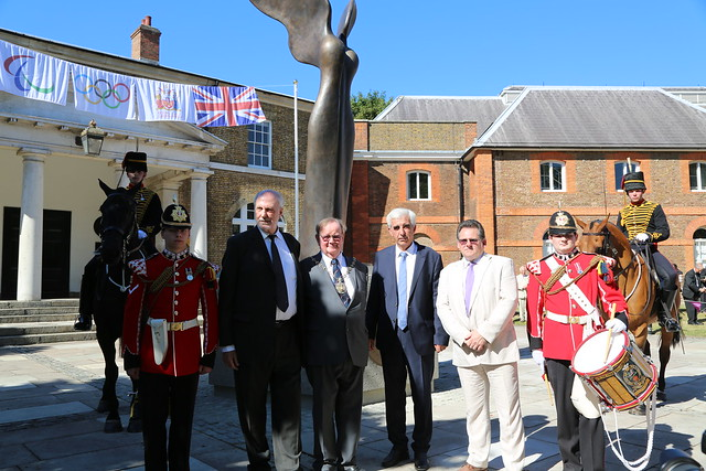 Unveiling of Nike statue in Woolwich
