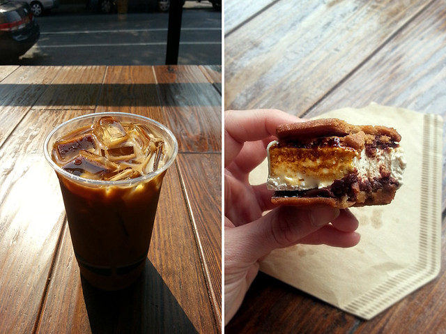 blue bottle coffee: ice new orleans & a bootleg s'more w/ mast bros. chocolate
