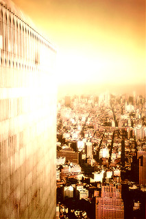 WTC (I was there in 1993: North Tower from South Tower. The 9/11 crazy glow does not dim)