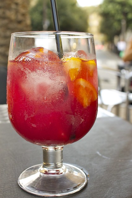 Glass of Sangria in Barcelona, Spain