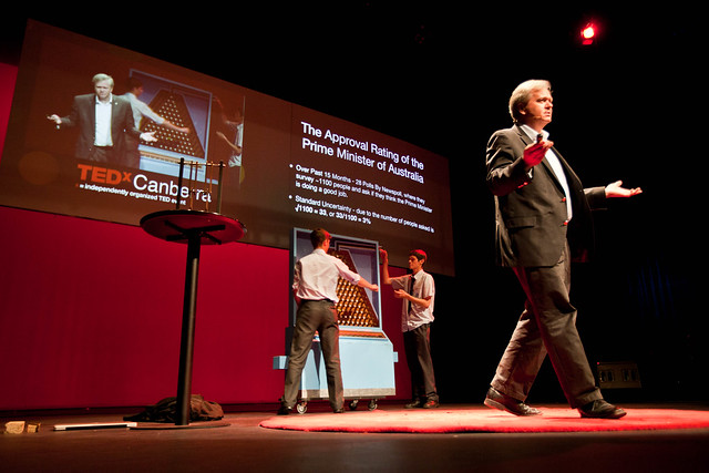 Brian Schmidt on stage at TEDxCanberra 2012