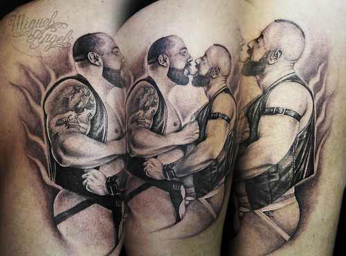 gay couple portrait tattoo a photo on flickriver. Black Bedroom Furniture Sets. Home Design Ideas
