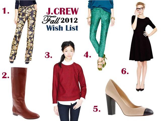 JCrew Fall 2012 Wishlist