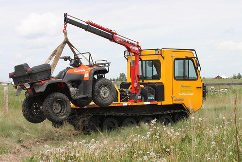 Tracked picker truck