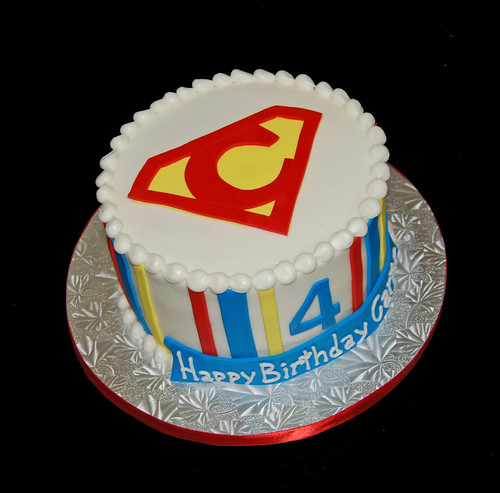 4th Brithday Super Hero Cake for family celebration