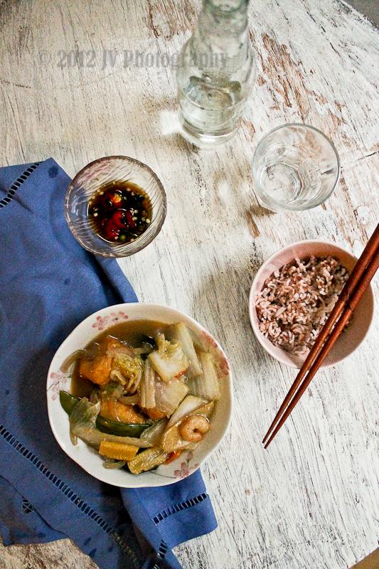 Claypot Seafood Tofu in Abalone Sauce