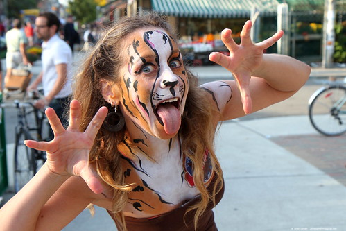 Exotic cheetah at Roncesvalles Polish Festival #9